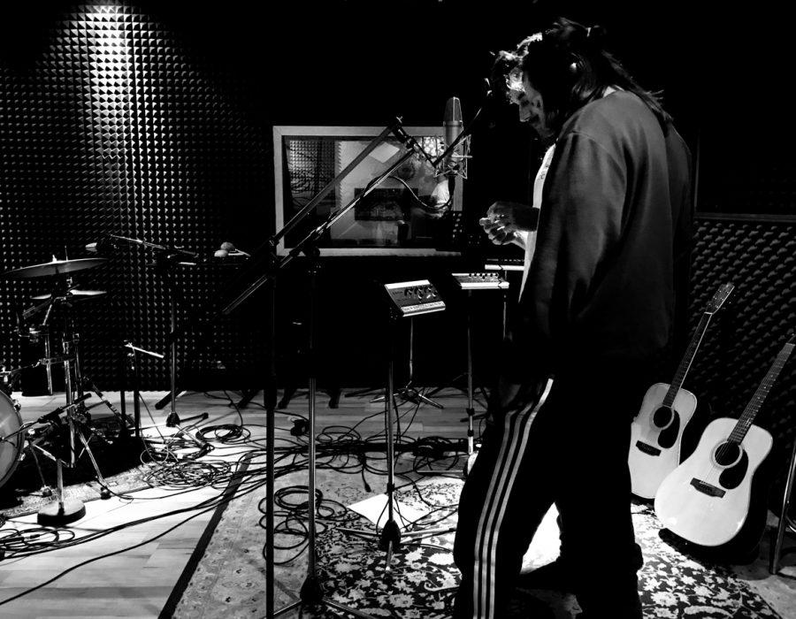 Jan and Joseph Prasil recording at Studio X Berlin 2019